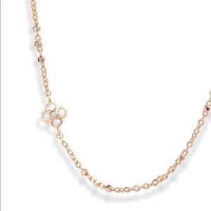 Kendra Scott Rue Long Strand Necklace In Rose Gold